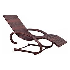Cadeira Espreguiçadeira Piscina Jardim em Alumínio e Rattan Naturalle Mor