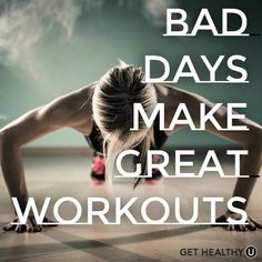 Use negative to create positive! #workout
