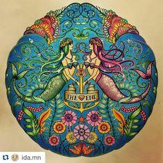 Instagram media desenhoscolorir - Que coisa linda! By @ida.mn ・#oceanoperdido #desenhoscolorir #lostocean #johannabasford #adultcoloring