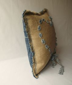 pillow with jeans heart