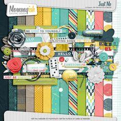 Just Me full kit freebie from Mommyish #freebie #digiscrap #scrapbook