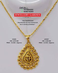 Gold Chain Design, Gold Bangles Design, Gold Earrings Designs, Gold Jewellery Design, Gold Jewelry, Gold Pendent, Gold Pendant Necklace, Gold Mangalsutra Designs, Gold Necklace Simple