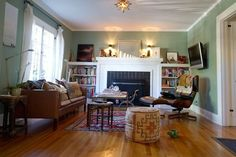 Blythe's Bohemian West Hollywood Cottage - This is exactly the layout of the craftsman cottage livingroom