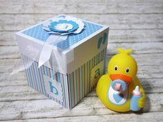 Geldgeschenke - Geldgeschenk Geschenkbox zur Geburt Baby Junge - ein Designerstück von blattsalat bei DaWanda