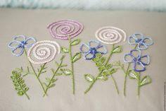 Купить Набор чехлов-наволочек с вышивкой - комбинированный, фиолетовый, вышивка, декор для спальни, декор для детской