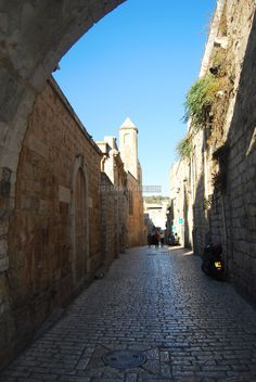 Via Dolorosa - the route that Jesus is believed to have taken as he carried the cross to calvary. It consists of 10 stations and ends at the Church of the Holy Sepulchre
