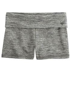 Foldover Waistband Yoga Shorts