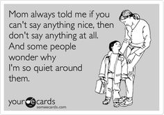 if you can't say something nice | Lindsay's List if you can't say something nice... - | - Lindsay's List
