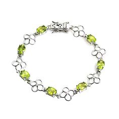 De Buman Genuine Peridot Natural Multicolored Gemstones with White Topaz 925 Silver Bracelet Peridot * Click image for more details. (This is an affiliate link) 925 Silver Bracelet, Gemstone Colors, White Topaz, Peridot, Gemstones, Link Bracelets, Nature, Stuff To Buy, Jewelry