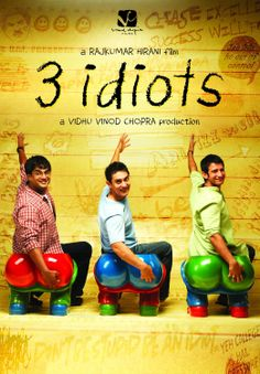 3 Idiots is a 2009 Indian comedy-drama film directed by Rajkumar Hirani, with a screenplay by Abhijat Joshi, and produced by Vidhu Vinod Chopra. It was loosely adapted from the novel Five Point Someone by Chetan Bhagat.