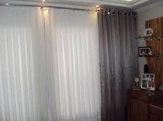 cortina de voil branca e vermelha - Pesquisa Google