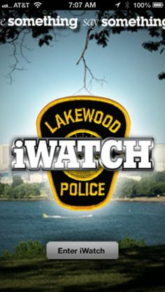 Lakewood Police Launch iWatch App