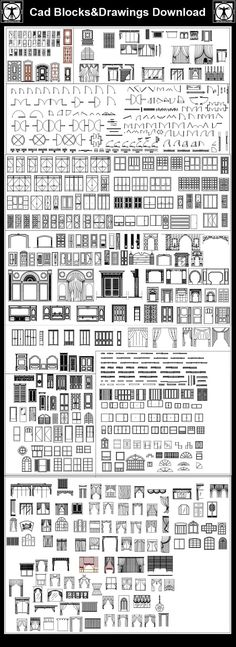 Architectural Drawing Design All Windows Curtain Blocks – CAD Design Landscape Architecture Design, Amazing Architecture, Architecture Details, Landscape Architects, Autocad, Free Interior Design, Free Design, Cad Blocks Free, Drawing Interior