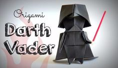 How to make an Origami Darth Vader ! 折り紙 I'm Tadashi Mori, and my videos show you step by step how I fold various origami art from flowers to dragons and eve. Star Wars Origami, Origami Yoda, Chat Origami, Instruções Origami, Origami Artist, Origami Star Box, Origami Dragon, Origami Folding, Origami Ideas
