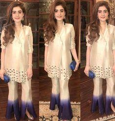 50 Trendy Trouser Designs 2019 In Pakistan Pakistani Fashion Casual, Pakistani Wedding Outfits, Pakistani Dresses Casual, Pakistani Dress Design, Indian Dresses, Indian Outfits, Indian Fashion, Eid Outfits, Women's Fashion