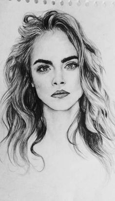 Realistic Portrait Drawing Realistic pencil portrait mastery Discover the secrets of drawing realistic pencil portraits. Amazing Drawings, Beautiful Drawings, Cool Drawings, Drawing Sketches, Face Drawings, Drawing Ideas, Female Face Drawing, Girl Face Drawing, Woman Drawing