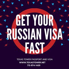 Whether for pleasure, business or work we have you covered. Apply for your Russia visa today. http://texastower.net/russia/ for more information.
