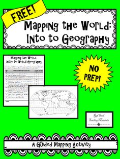 FREE Guided Mapping Activity for the continents, oceans and key lines of latitude and longitude.  See what my Guided Mapping Activities are all about!