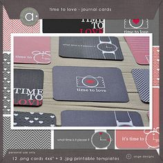 Time to love - FREEBIE journal cards
