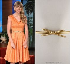 The Ellen Degeneres Show | October 25, 2012 Prada 'Waist Bow Belt' - $355.00 If only we could all afford the luxury to splurge this much on such a simple accessory. Just a reminder that you can catch...