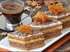 Prajitura cu foi de zahar ars Romanian Desserts, Romanian Food, Romanian Recipes, My Recipes, Cake Recipes, Cooking Recipes, Food Cakes, Something Sweet, Cakes And More