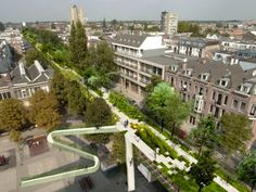 Former Hofplein Viaduct in Rotterdam set to be transformed into linear urban park known as de Hofbogen