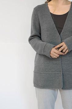 Shibui Knits | Lineal, knit with 2 strands of Shibui Cima held together throughout.