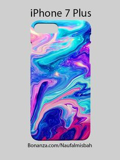 Watercolor Rainbow Paint iPhone 7 PLUS Case Cover Wrap Around