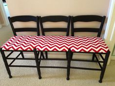Hometalk :: Make a Bench Out of 3 Chairs