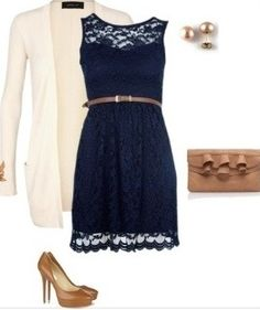 Navy and lace oh wow!