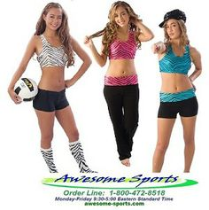 58dff543da Pizzazz Zebra Glitter Sports Bra are perfect for cheer and dance teams.