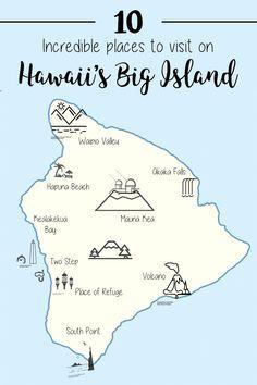10 Incredible Places to Visit on Hawaii's Big Island (Hawai'i Island) Traveling to Hawaii? Here some of the best things to do & places to visit on Hawaii's Big Island. Don't miss these 10 top places to visit on Hawai'i Island. Maui, Big Island Hawaii, Island Hopping Hawaii, The Big Island, Rhode Island, Hawaii Things To Do, Hawaii Travel Guide, Travel Tips, Hawaii Adventures