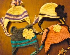 Ravelry: Basic Earflap Beanie Newborn to Adult by Family Bugs
