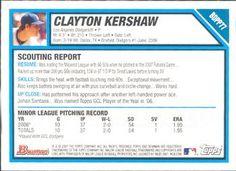 2007 Bowman Draft Picks & Prospects - Futures Game Prospects #BDPP77 Clayton Kershaw Back