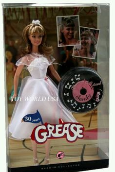 Sandy Olsson (Olivia Newton-John) of Grease Dance-Off Pink Label Barbie Collector Series Doll by Mattel, Released June 2008 Barbie I, Barbie World, Barbie And Ken, Barbie Clothes, Mermaid Barbie, Vintage Barbie, Vintage Dolls, Barbie Celebrity, Poppy Parker