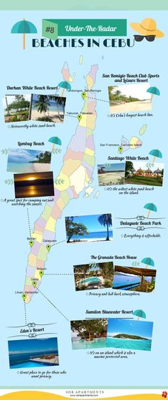 Beaches in Cebu #SDRApartments #Cebu #Beaches