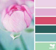 flora palette Color Palette by Design Seeds Colour Pallete, Colour Schemes, Color Combos, Color Patterns, Color Palettes, Pallet Wedding, Spring Wedding Colors, Spring Colors, Design Seeds