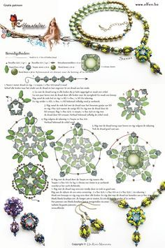 Free Necklace Beading Pattern from Elfen.Be featured in Bead-Patterns.com Newsletter!