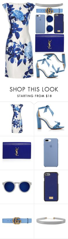 """Blue"" by kweencupcake08 on Polyvore featuring Dorothy Perkins, Alexandre Birman, Yves Saint Laurent, Illesteva, Dolce&Gabbana, Gucci and Humble Chic"