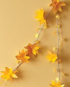 Light up paper flower garland tutorial