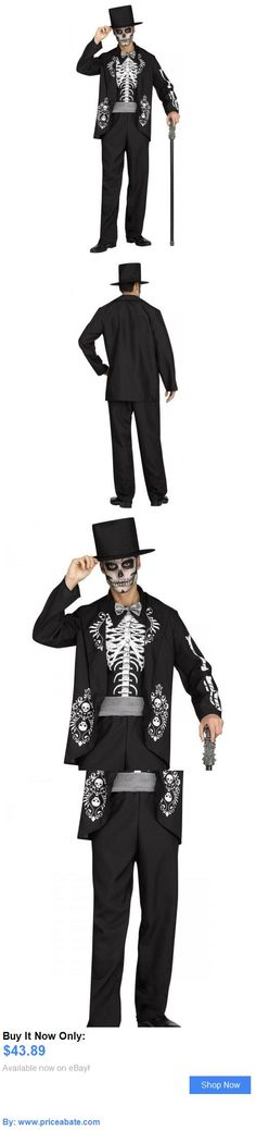 Men Costumes: Day Of The Dead Costume Adult Skeleton Suit Halloween Fancy Dress BUY IT NOW ONLY: $43.89 #priceabateMenCostumes OR #priceabate