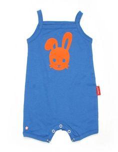 """Blauw """"Bunny face"""" shortpakje- Tapete"""