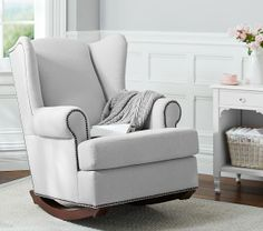 Wingback Nailhead Rocker | Pottery Barn Kids