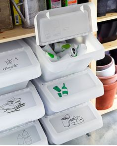 SORTERA Recycling bin with lid IKEA Folding lid for easy access to the contents in a stack of boxes. SORTERA Recycling bin with lid IKEA Folding lid for easy access to the contents in a stack of boxes.