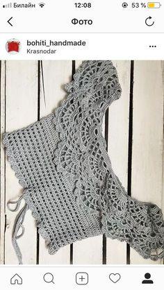 María Cielo: Crochet inspiración: top – Top Of The World Blouse Au Crochet, Débardeurs Au Crochet, Crochet Lace Collar, Gilet Crochet, Crochet Bikini Top, Crochet Woman, Crochet Cardigan, Lace Knitting, Crochet Stitches