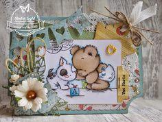 Baby kaartje met de nieuwe PaperPads gemaakt door Jeanet van der Lee
