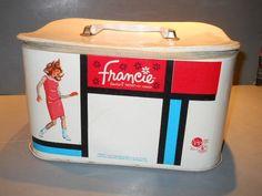 vintage Francie train case