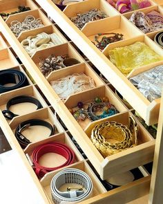 Organize your accessories! Could totally do this with cheap organizers from IKEA