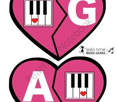 Valentine Match Up - Music for Young Childnre from Solo Time Music Games on TeachersNotebook.com -  (16 pages)  - This product is designed for the Music for Young Children teacher