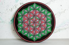 string art FLOWER OF LIFE sacred geometry psychedelic string art home decor wall décor Mandala Zen 3D art New Age spiritual gift meditation by MagicLineStore on Etsy